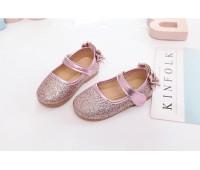 Блестящие туфли под нарядные платья, розовые