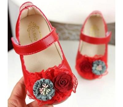 Нарядные туфли на липучке для девочек