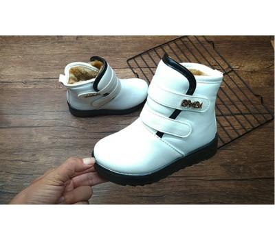 Зимние, теплые ботинки на липучках