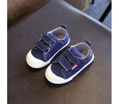 Детские мокасины с прорезиненным носком