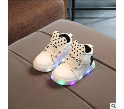 Светящиеся кроссовки Микки, белые