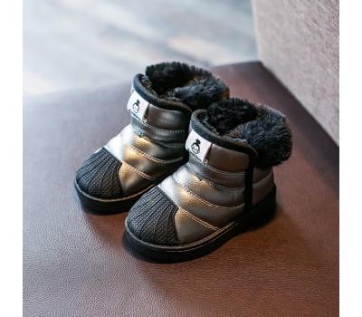 Зимние угги с прорезиненным носком, золотые