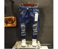 Детские джинсы с дырками, унисекс