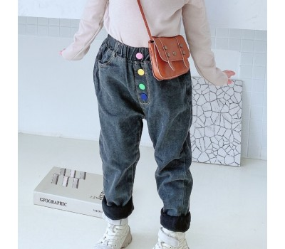 Стильные теплые джинсы на флисе