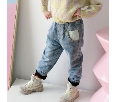 Теплые джинсы на флисе,унисекс