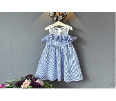 Легенькое  летнее платье  в полоску