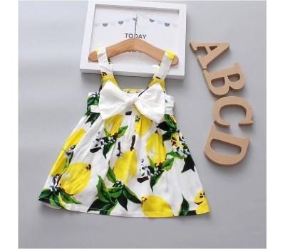Легенькое и удобное летнее платье с большим бантом