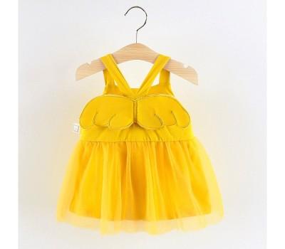 Легенькое оригинальное платье с крылышками