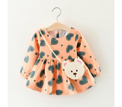 Милое  нарядное платьице с мишкой