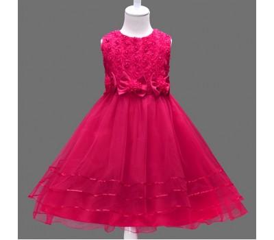 Нарядные платья с цветами и бантиками