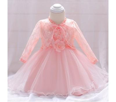 Нежное платье с накидочкой