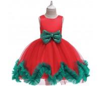 Новогоднее платье с бантом