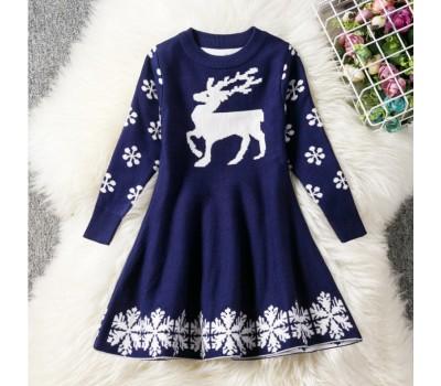 Новогоднее платье с оленем