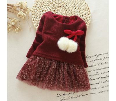 Платье с бубонами