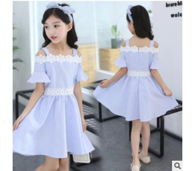 Платье в полоску с цветами