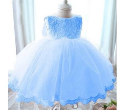 Праздничное платье с бантом без рукавов