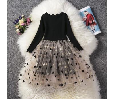 Стильное нарядное платье со звездами