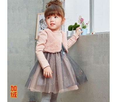 Теплое платье с жилеткой