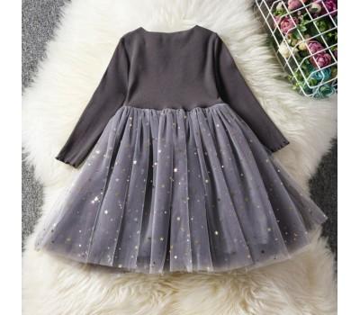 Красивое нарядное платье с звездочками