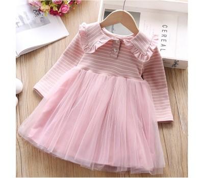 Красивое нарядное платье в полоску