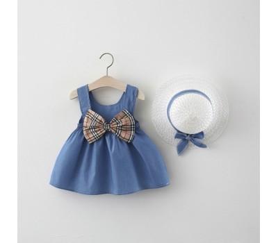 Легкое летнее платье с бантом