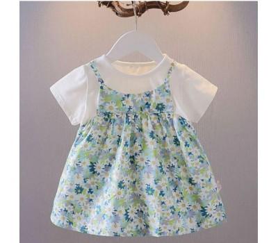 Легкое летнее платье в мелкий цветочек