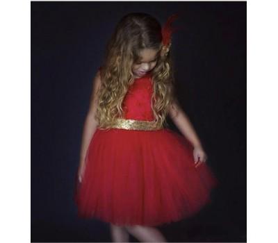 Праздничное платье с большим бантом