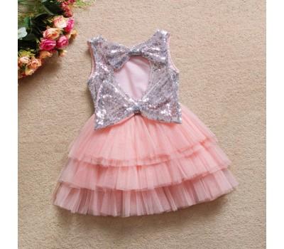 Пышное платье с пайетками