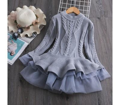 Шикарное теплое платье