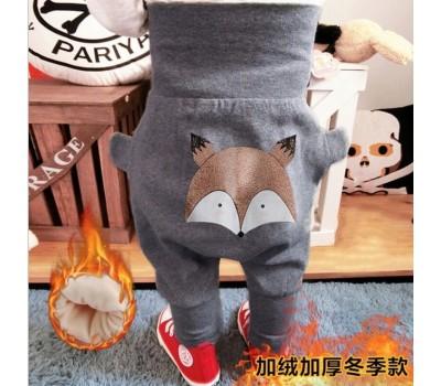 Теплые штанишки с высокой талией