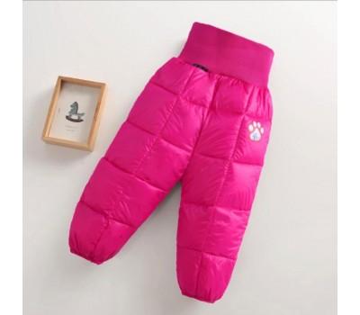 Теплые зимние штаны с высокой талией