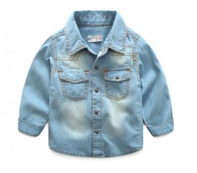 Джинсовая рубашка, голубая