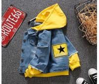 Джинсовая куртка с капюшоном (унисекс)