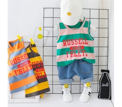 Легкий и удобный костюм с надписью на майке RUSSELL 1902-2002