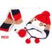 Шапка с шарфом, красная