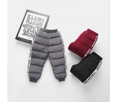 Теплые штаны с лампасами и манжетами