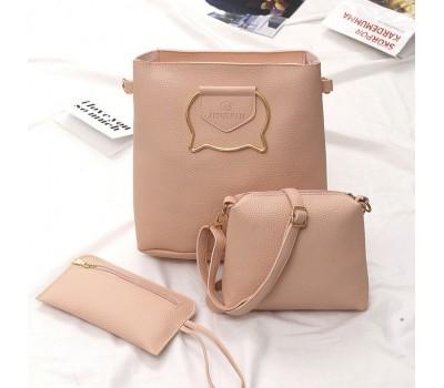 Классические женские сумки в наборе 3 в 1 JINGPIN