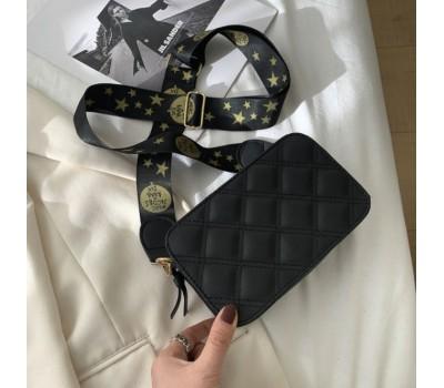 Стильная сумка на широком ремне